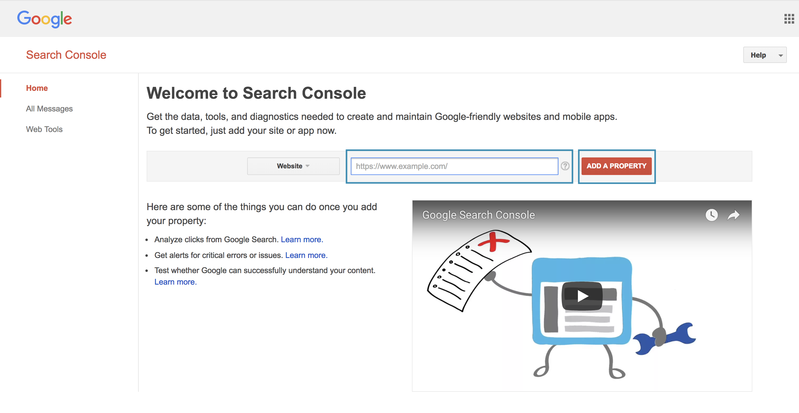How To - Installing Google Search Console