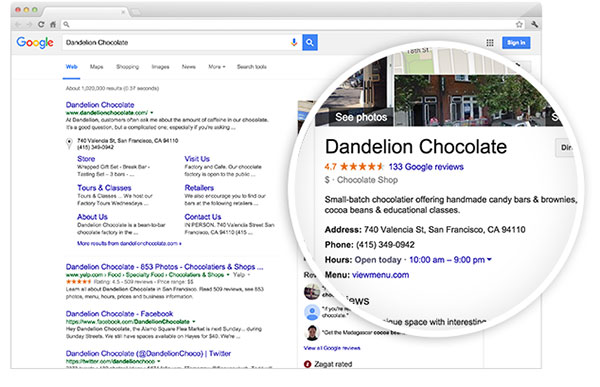 Google Business Example