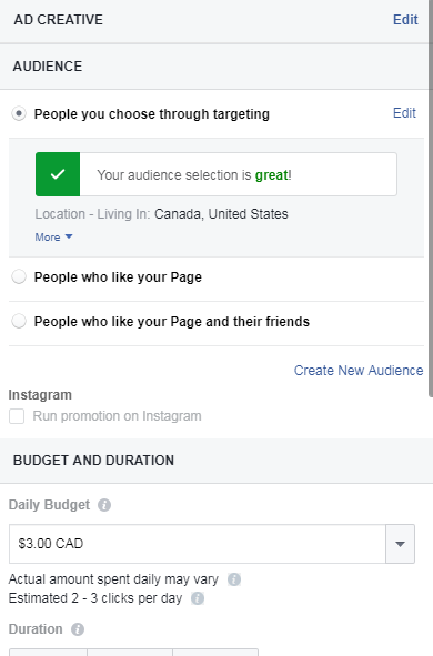 Create mortgage ad facebook manager